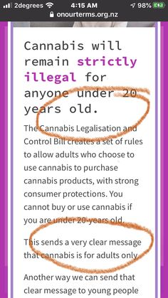 Imagine that the Bill is enacted. You cannot buy or use cannabis if you are under 20-years old. I'd like to focus attention to the Age restriction 20+ and how that affects you and your family. Here is the website for on our terms which explains 8 Key Control measures to ensure the legalization process and outcome is safe. It is about the health of our younger generation.