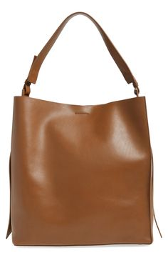 allsaints leather tote