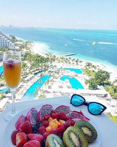 Healthy Breakfast with a view at Riu Palace Peninsula in Cancun All inclusive hotel in Mexico
