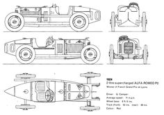 Alfa Romeo Tipo P2 (1924) | SMCars.Net - Car Blueprints Forum