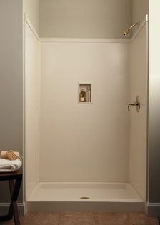 Transolid: Solid Surface Shower Walls, Shower Pans, Custom Shower Pans- no grout to clean- boys baths