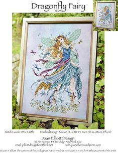 Dragonfly Fairy - Cross Stitch Pattern -- Lori, this is the pattern I want to buy you. You gonna do it if I buy it?