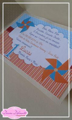 Convite Catavento | Decore Diferente - Festas Personalizadas | Elo7