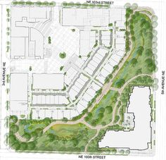 landscape plan rendering for Thornton Creek Water Quality Channel by SvR Design Co, via Flickr