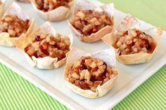 Merry Cranberry Pear Tarts Recipe | Hungry Girl ...great Christmas treat!