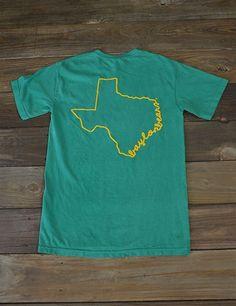 """""""Baylor Bears"""" Texas state line Tshirt"""