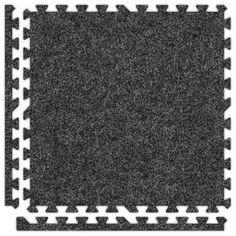 Alessco SoftCarpets Set in Dark Grey Size: 10' x 30'