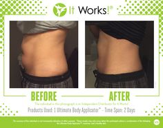 These results are after ONE Wrap! One box of that #CrazyWrapThing contains FOUR applications... Woo!