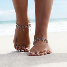 Ankle bracelets in hippie gypsy boho style. For more followwww.pinterest.com/ninayayand stay positively #pinspired #pinspire @ninayay