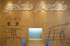New ice cream shop in Belgrade, Serbia!GELATO FREDDO