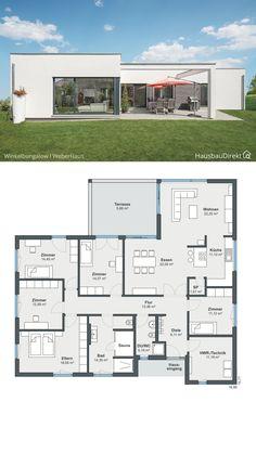 Small Modern House Plans, Beautiful House Plans, Modern Bungalow House, Cottage Style House Plans, Pool House Plans, Dream House Plans, House Construction Plan, Modern Villa Design, Sims House Design