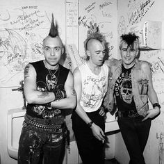The Exploited in the bathroom at Hardtimes, 1985