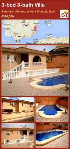 3-bed 3-bath Villa in Benijofar, Alicante (Costa Blanca), Spain ►€330,000 #PropertyForSaleInSpain