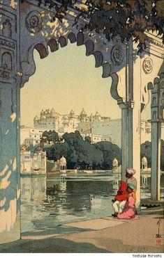 """""""Udaipur Palace"""" by Yoshida Hiroshi"""