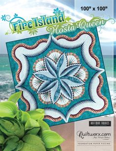 "Fire Island Hosta Queen - Available from Quiltworx.com - A Judy Niemeyer Quilting Company. Shop for more patterns and quilting supplies on store.quiltworx.com. This pattern makes a 100"" x 100"" quilt, the pattern cost is $78.00."