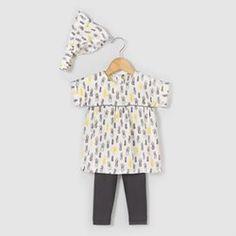 Conjunto túnica, leggings, fita para o cabelo, 1 mês-3 anos R baby