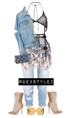 """""""-"""" by roexstylez89 ❤ liked on Polyvore featuring Fleur du Mal, Dsquared2, Faith Connexion, Philosophy di Lorenzo Serafini, Louis Vuitton and Marni"""