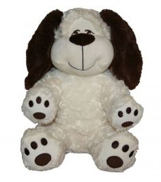 "Singing 16"" plush Smiley Dog which plays custom music featuring your child's name."