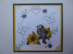 Vogeltje tussen de bloempjes