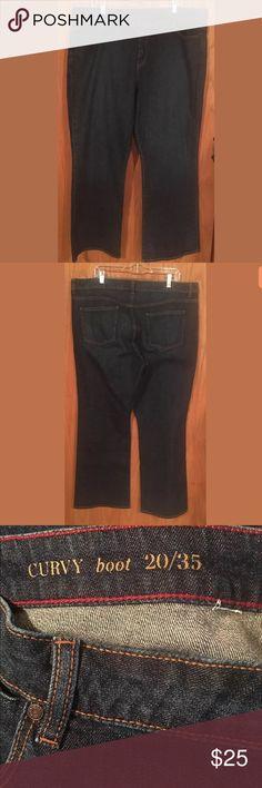 Talbots Curvy Boot Cut Dark Jeans Size 20 Talbots Curvy Boot Cut Dark Jeans Size 20 Talbots Jeans Boot Cut