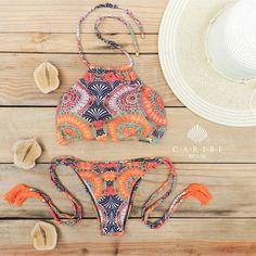 Biquíni Mandala Laranja - Caribe Brasil | Beachwear