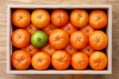 Fresh mandarines box by Foodie's Shop on @creativemarket
