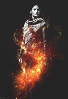 ¿Quien quiere que ya estrene Los Jueos Del Hambre, En LLamas? Mientras les dejamos esta imagen de Katniss