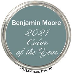Benjamin Moore's Color of the Year 2021 Aegean Teal. Hue Family, Value, Chroma, LRV Teal Paint, Door Paint Colors, Neutral Paint Colors, Paint Color Schemes, Bathroom Paint Colors, Paint Colors For Home, Wall Colors, House Colors, Ppg Paint