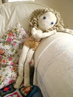 Ravelry: Pixie - new knitted doll pattern by Claire Dot Garland Pebbles 3.50GBP