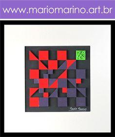 Sugestões diferentes e ¨clean¨ para sua casa! Quadro abstrato geométrico com uma exótica combinação de cores e uma pegada sustentável! Visite a loja virtual e conheça as outras opções! Tudo em até 12X com frete grátis!