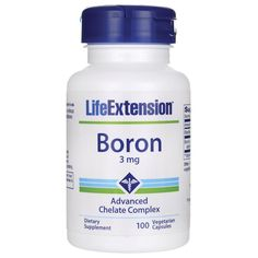 Shop the best Life Extension Boron 3 mg 100 Veg Caps products at Swanson Health Products. Trusted since we offer trusted quality and great value on Life Extension Boron 3 mg 100 Veg Caps products. Bone Health, Brain Health, Boron Benefits, Zinc Capsules, Life Extension, Bone And Joint, Good Company, Extensions
