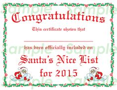 Free printable santa letter with directions on how to get a 7 best images of blank nice list certificate printable blank santa nice list certificates free printable santa nice list certificate and free printable yadclub Choice Image