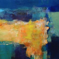 November 2012 - 5 - Original Abstract Oil Painting - 65.2 cm x 65.2 cm (app. 25.7 inch x 25.7 inch)