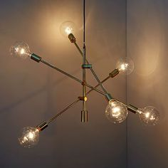 Mobile Chandelier - Large  (Antique Brass/Gold) for entryway light replacement