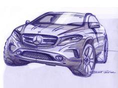 Mercedes-Benz GLA: first design sketches