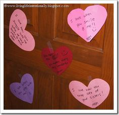 Why I love you on kids doors for valentine's day!