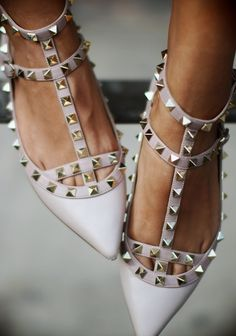I could make shoes look like this. Maybe with spikes instead of studs...