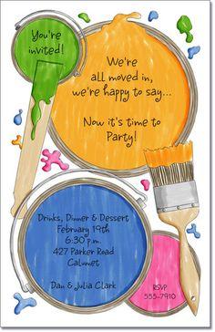 Paint Cans MovingAnnouncements - Change of Address Announcements