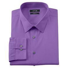 Apt. 9® Slim-Fit Stretch Solid Dress Shirt - Big & Tall