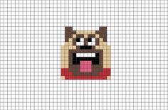 The Secret Life of Pets Mel Pixel Art from BrikBook.com #TheSecretLifeofPets #Mel #Pug #Dog #pixel #pixelart #8bit Shop more designs at http://www.brikbook.com