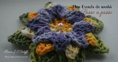 Flor estrela da manhã passo a passo | Croche.com.br