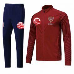 f246cb61e Arsenal Training Kits (Red High Neck Jacket + Navy Trousers) 2018-19 Cheap football  tracksuits 18 19 on Goaljerseyshop.com