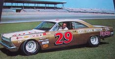 Dick Hutcherson - Ford factory driver, multiple NASCAR race winner, finished 2nd in NASCAR points in 1965, 3rd in 1966, 3rd place at Lemans 1966. Crew chief for David Pearson's Torino and Talladega championship seasons of 1968 and 1969.