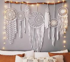Stunning boho inspired, white wedding set. Only one available and ready to ship! This set of seven dream catchers will add an elegant touch to your bohemian wedding, baby shower, special occasion, or simply place as a feature in your home. Perfect gift idea for someone special in