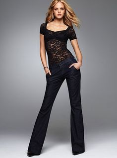 Victorias Secret Trouser Jeans. I love these. They are so easy to dress up. Fit like a glove.