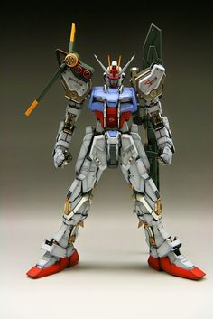 PG 1/60 Sword & Launcher Strike Gundam - Painted Build