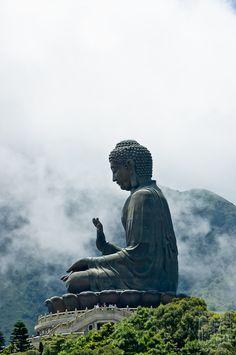 The big Tian Tan Buddha at the po lin monastery in Hong Kong, Guangdong province, China