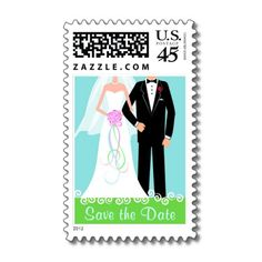 Save the Date Wedding Postage by SquirrelHugger