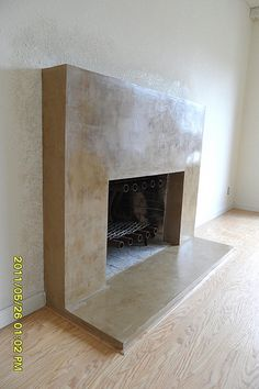 venetian plaster fireplace - Google Search