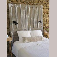 T tes de lit anciennes sur pinterest portes en t tes de - Fabriquer sa tete de lit ...